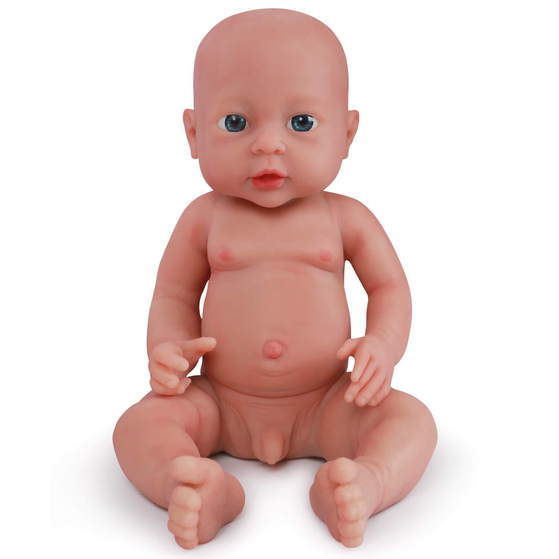 "16/"" Realistic Handmade Silicone Reborn Baby Boy Doll Lifelike Vinyl Newborn New"