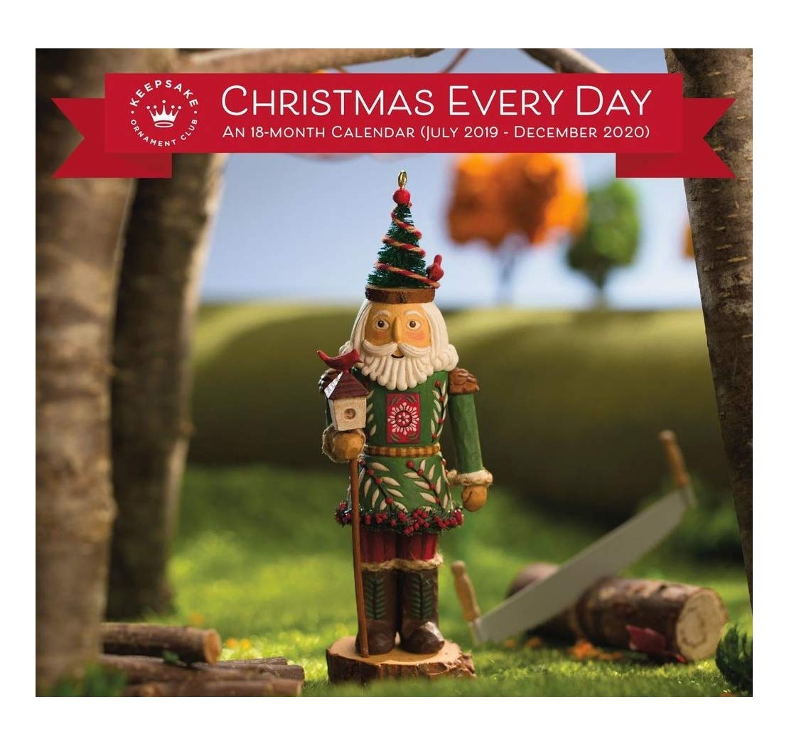 Hallmark Christmas In July 2019.Amazon Com Hallmark Christmas Everyday 18 Month Calendar