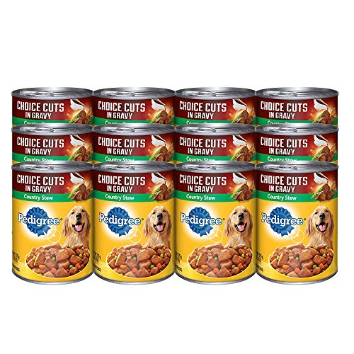 PEDIGREE CHOICE CUTS in Gravy Country Stew Canned Dog Food 13.2 Ounces (Pack of 12)