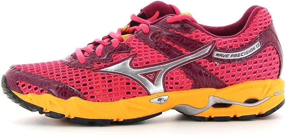 MIZUNO Wave Precision 13 Zapatilla de Running Señora, Rojo/Naranja, 38.5: Amazon.es: Zapatos y complementos