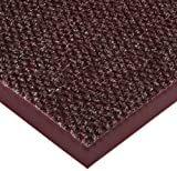 Notrax 136 Polynib Entrance Mat, for Lobbies and Indoor Entranceways, 3' Width x 10' Length x 1/4'' Thickness, Burgundy