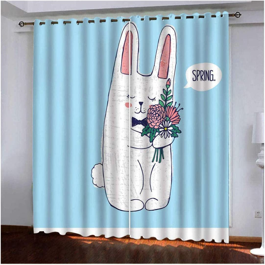 Cartoon Blackout Curtain for Boys Girls Bedroom Thermal Eyelet Ring Curtains DP