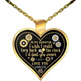 dad daughter necklace valentine day heart love statement gift from father to girl daddy quotes