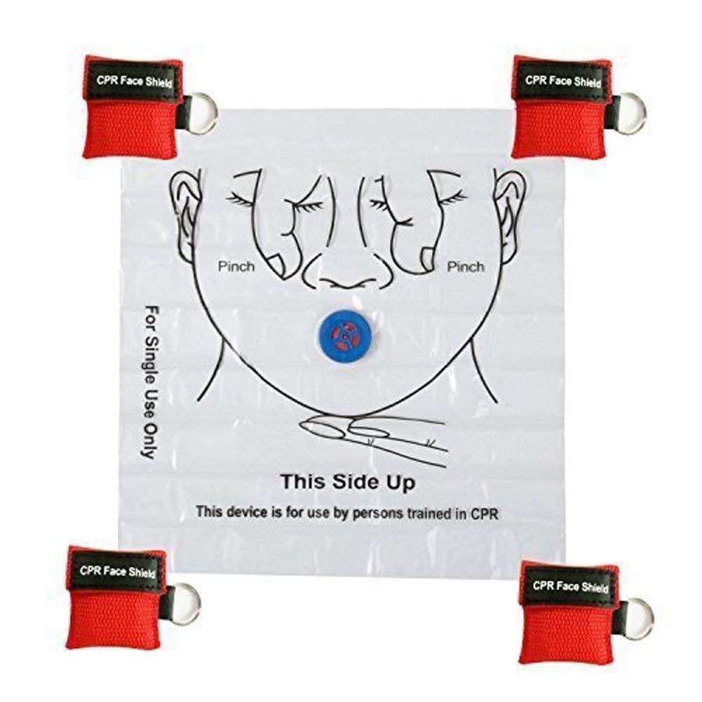 LSIKA-Z M/áscara de CPR Paquete de 10pcs//12pcs CPR Llavero Escudo Facial
