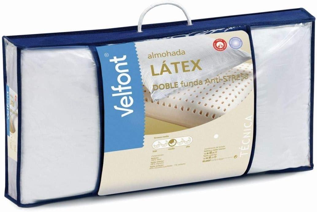 Almohada Latex Antistress Velfont-Tallas de almohadas-90 cm