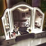 Led Vanity Mirror Lights Kit, 13ft/4M 240 LED Vanity Mirror with Lights - Vanity Lights for Makeup Table Set with Dimmer and Power Supply, Mirror not Included