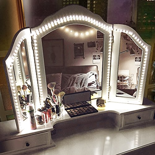 Led Vanity Mirror Lights Kit, 13ft/4M 240 LED Vanity Mirror with Lights - Vanity Lights for Makeup Table Set with Dimmer and Power Supply, Mirror not Included by zizwe