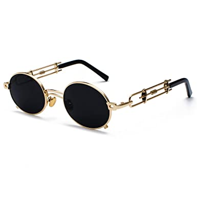 c91069bfc2b Amazon.com  retro Sunglasses vintage metal frame sun glasses for women red  male gift