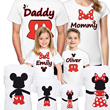 d3e35b223 Disney Family Vacation Shirts 2019 Set of 4 Mickey Minnie Mouse Matching  Trip for Gift Tshirts