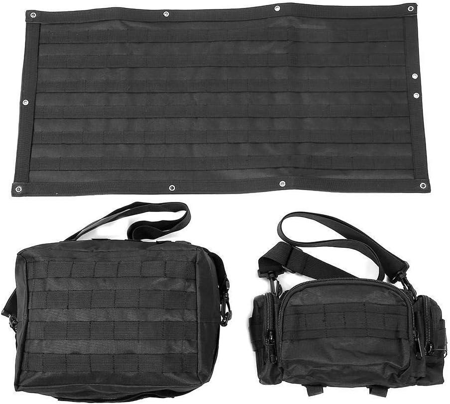 Dingln Bolsa Kit De Herramientas De La Puerta Posterior del Coche 3pcs Organizador Adapta For J-E-E-P Wrangler JK 2007-2015