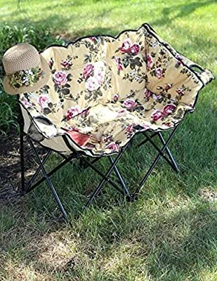 Marvelous Amazon Com Vtc New Floral Loveseat Double Oversized Camp Machost Co Dining Chair Design Ideas Machostcouk