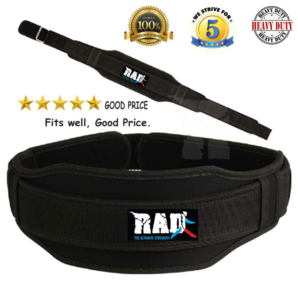 Weight Lifting Body Building Fitness Gym Neoprene Wide Double Back Support Belt