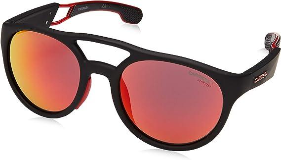 CA4013S 0BLX UZ Carrera Men/'s Black Rectangular Wrap Sunglasses w// Mirror Lens