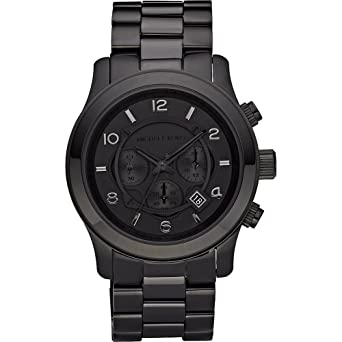 5fd8a4168949 Image Unavailable. Image not available for. Color  Michael Kors Watches  Michael Kors Men s Steel Black Chronograph Sport