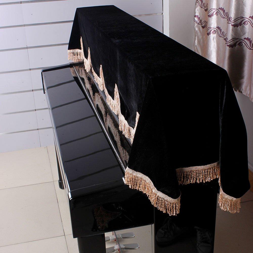 Anself Housse de protection pour Piano de 88 touches Keyboard couverture Pleuche Velcro Décoré avec Belles macramé Andoer 1619619811