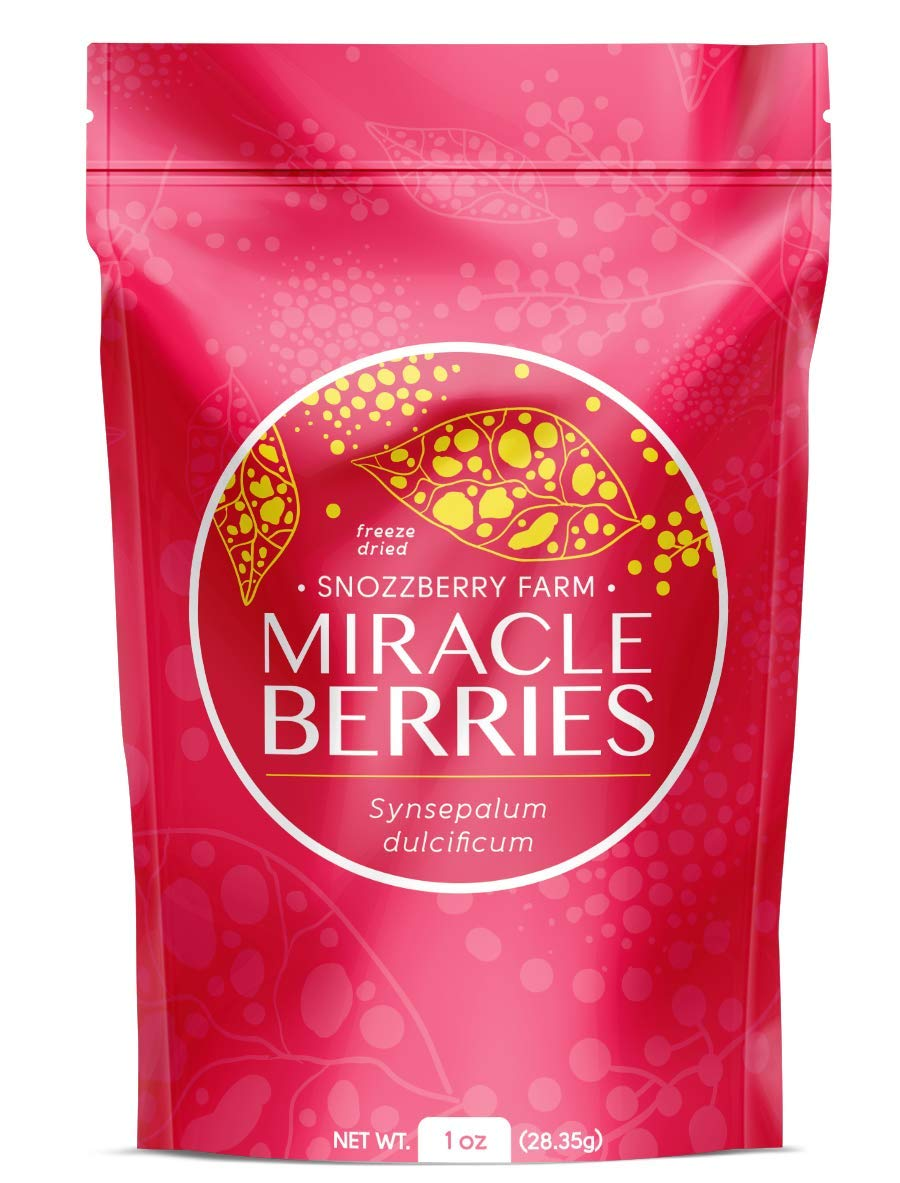 1oz Package Miracle Berries by the Snozzberry Farm, Contains 175 berry halves, freeze dried 100% Miracle fruit, Non-GMO, Grown in the USA, Makes sour sweet