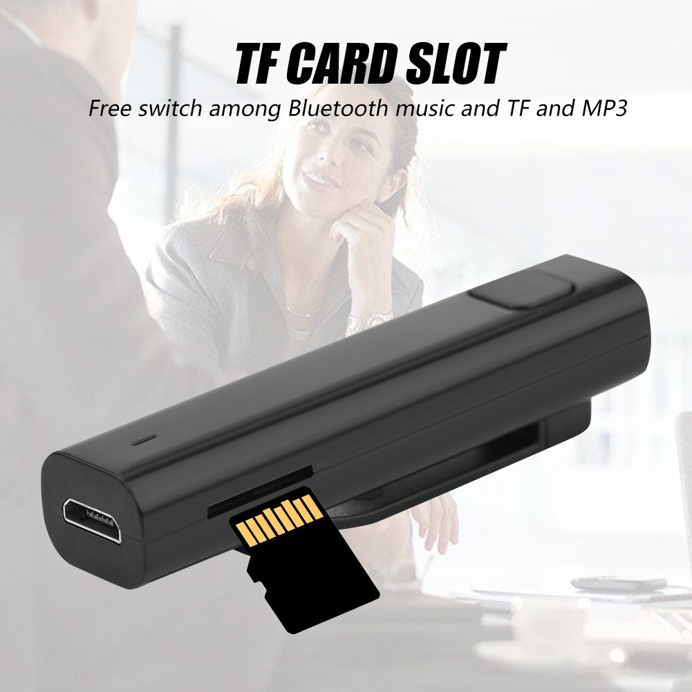 Auricolare Stereo Ricevitore Bluetooth multilingue per Viaggi di apprendimento Aziendale Nero Mavis Laven Ricevitore di traduzione Bluetooth