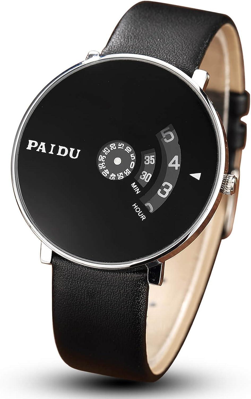 gorben para Hombre Creative Tocadiscos Relojes, Casual Vestido de ...