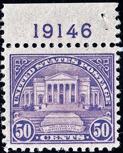 Arlington Amphitheater (U.S. Stamp 1922 Arlington Amphitheater Scott 570 Very Light Hinged Plate #)