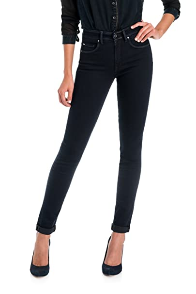 Salsa Pantalones Secret Glamour Push In Denim Oscuro: Amazon ...