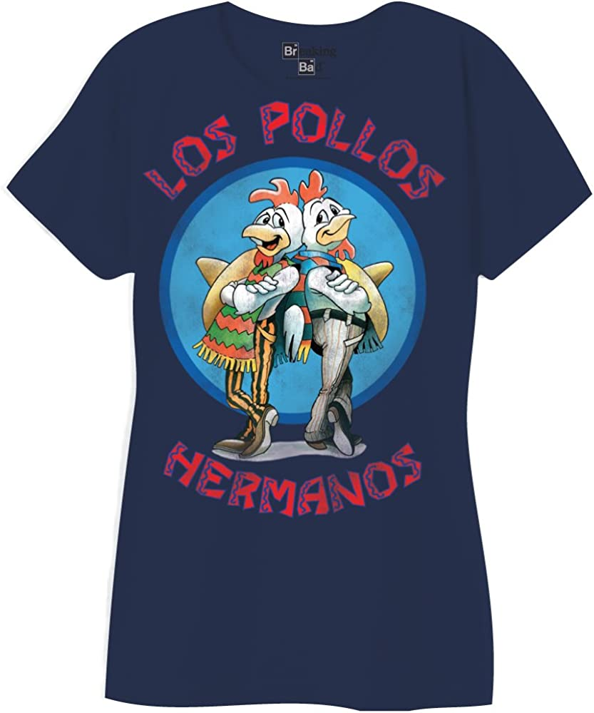 Breaking Bad Los Pollos Hermanos Logo Junior Color Azul Marino – Camiseta Azul Marino Small: Amazon.es: Ropa y accesorios