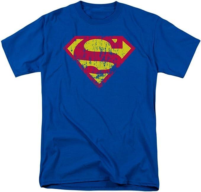 Camiseta de Superman DC Comics con logo clásico envejecido para adulto - Azul - XX-Large: Amazon.es: Ropa y accesorios