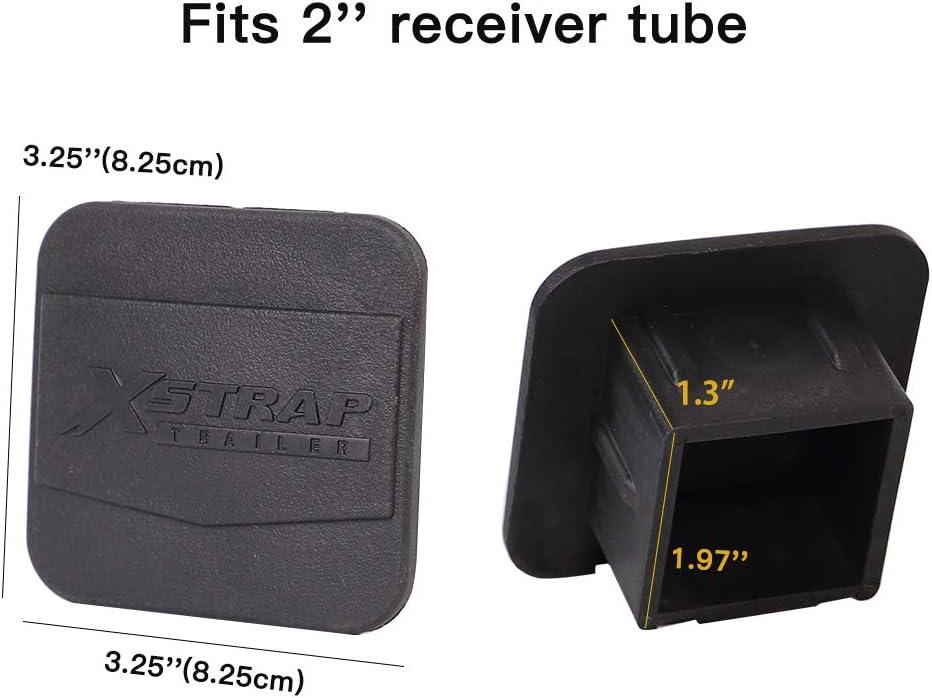 XSTRAP Trailer Hitch Cover 2 inches Black Receiver Tube Trailer Hitch Plug