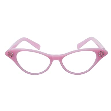 becf05ac7e WMA Lunettes rock and roll Grease années 50 Rose  Amazon.fr ...