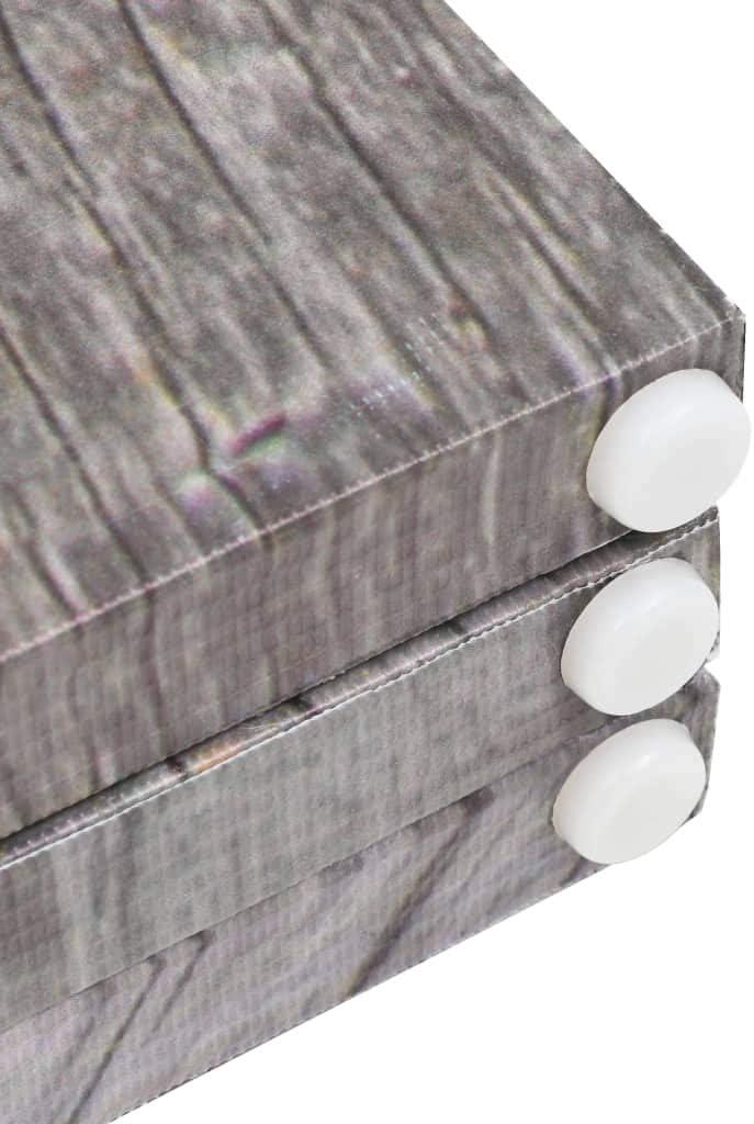 UnfadeMemory Raumteiler klappbar Paravent Sichtschutz Leinwand Raumtrenner Holzrahmen Leinwand-Bespannung Dekorative Trennwand Wohnzimmer//Schlafzimmer 120 x 170 cm, Federn Schwarz-Wei/ß