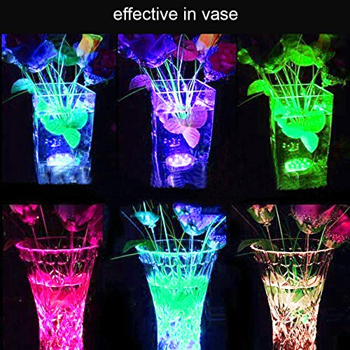 Amazon.com : AICase Remote Controlled Submersible Led Lights, Waterproof 16 Colors RGB Battery Powered Versatile Function Light with 10 LEDs for Vase Base, ...