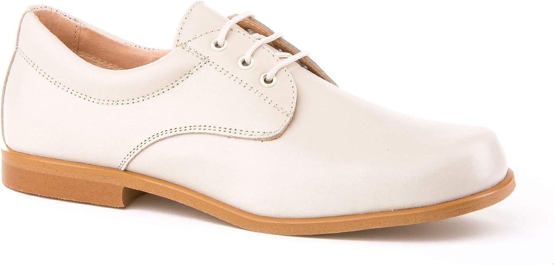 Zapatos de niño para Ceremonia. Zapato Fabricado en Piel y Hecho en España - Mi Pequeña Modelo 1811 Color Beige.