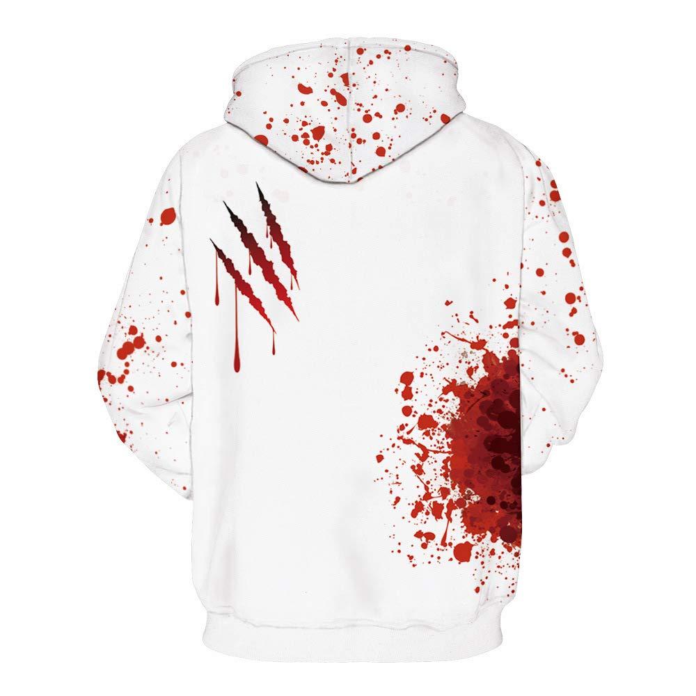 Homemaple Unisex Halloween Hoodies 3D Printing Sport Hoodie Sweatshirt with Big Pockets Christmas (S/M, I'm fine) by Homemaple (Image #2)