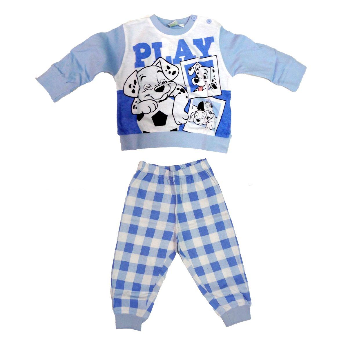 WD101135 pigiama neonato lungo in cotone jersey LA CARICA DEI 101 disney art