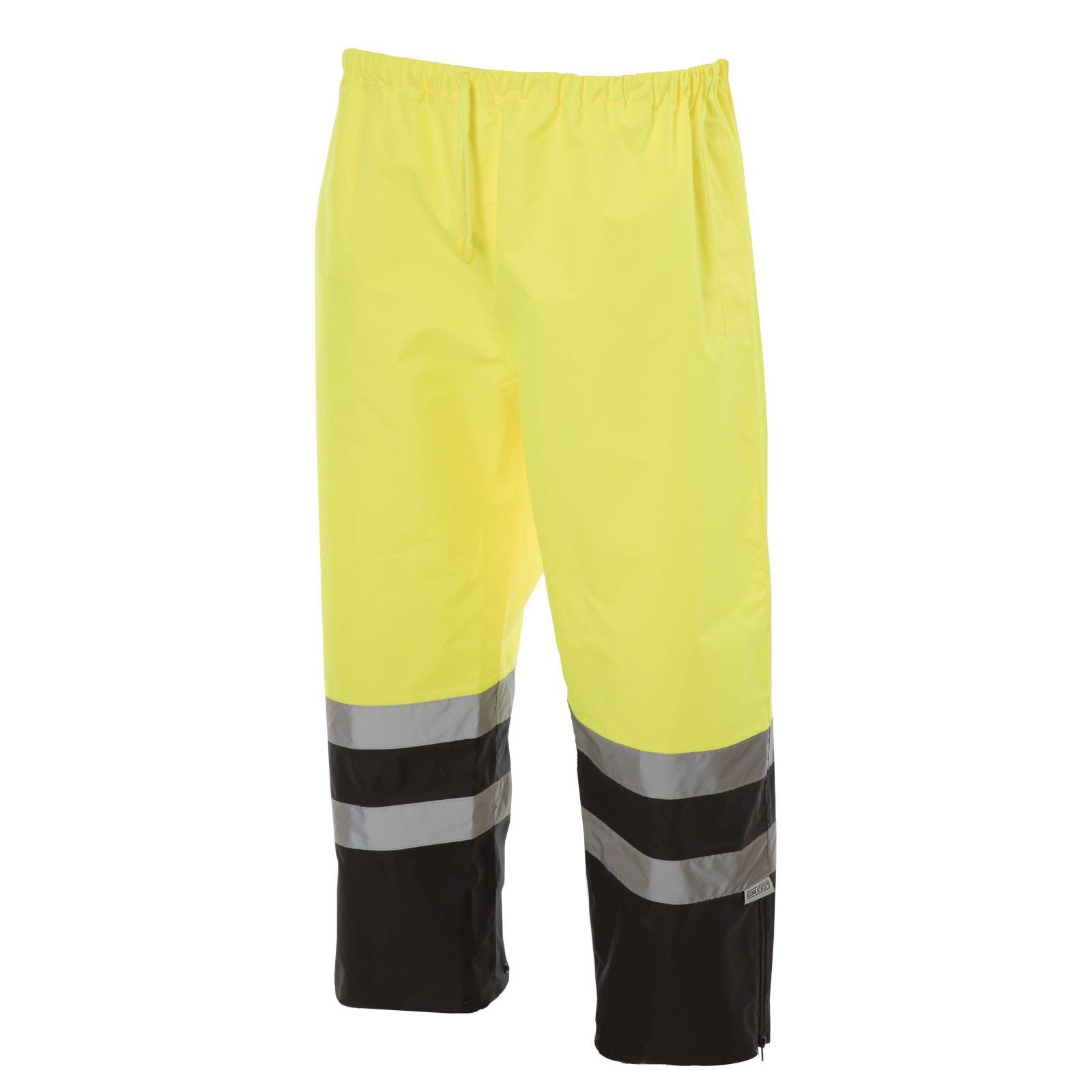 JORESTECH Light Weight Waterproof Rain Pants ANSI/ISEA 107-2015 Class 3 Level 2 Black and Yellow (3X-Large) by JORESTECH (Image #3)