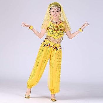 SULEAR_Belly Dance Costume Superar - Disfraz de Danza del Vientre ...
