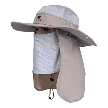 Anyoo Aire Libre Sombrero Boonie Transpirable con Amplias ala de Sombrero  Verano Gorra UV Protección Pesca b9ea7af4e75