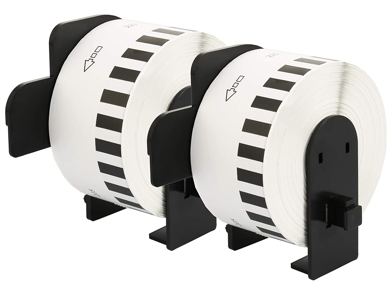 10 Compatibles Rouleaux DK22225 DK-22225 38mm x 30,48m Papier /Étiquettes continues pour Brother P-Touch QL-500 QL-550 QL-560 QL-570 QL-700 QL-800 QL-810W QL-820NWB QL-1050 QL-1060N QL-1100 QL-1110NWB