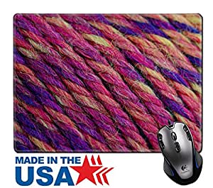 """MSD Natural Rubber Mouse Pad/Mat with Stitched Edges 9.8"""" x 7.9"""" IMAGE ID 33989354 colorful wool needlecraft"""