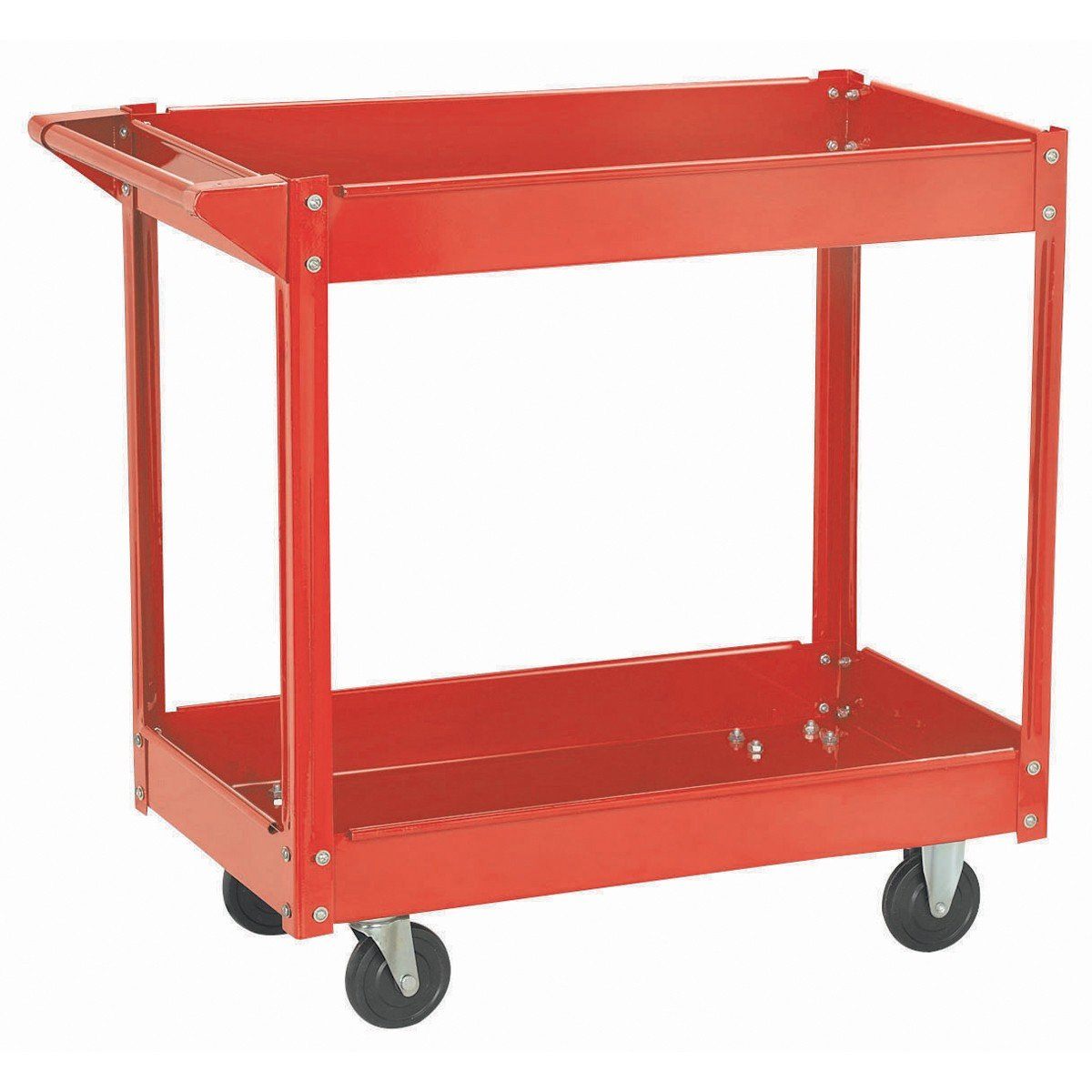 16 In. x 30 In.Two Shelf Steel Service Cart