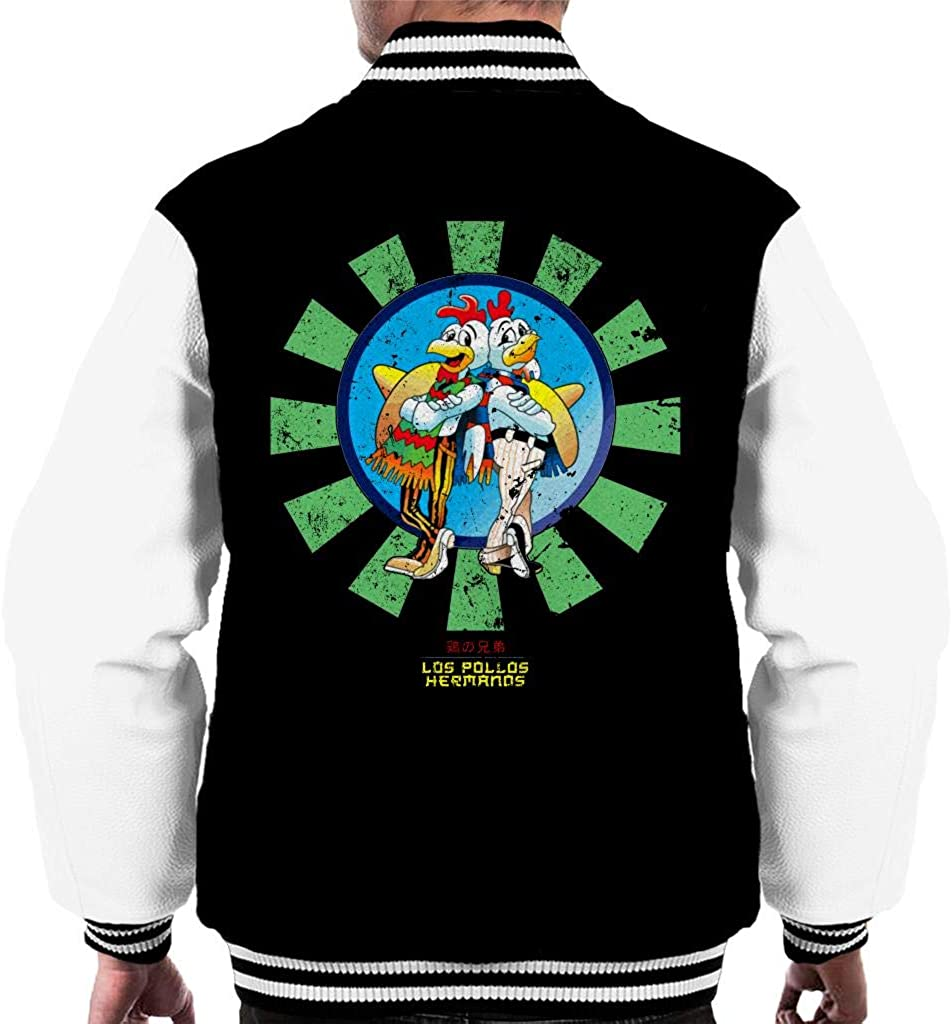 Los Pollos Hermanos Retro Japanese Breaking Bad Mens Varsity Jacket: Amazon.es: Ropa y accesorios