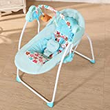 Decdeal Electric Baby Swing Rocking BT Chair Sleeping Basket Bed Crib For Newborn Infant Camel
