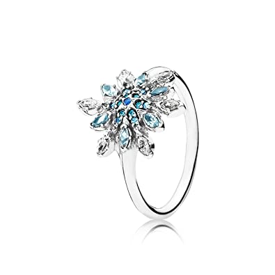 b7be03b7b Amazon.com: Pandora Crystallized Snowflake Ring 190969nblmx-60 Size ...
