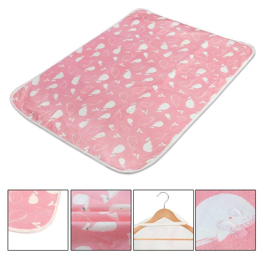 KIDSONE Portable Baby Diaper Changing Pad, Breathable Waterproof Underpads Changing Mat for Baby Boys Girls (E, 80x110cm)
