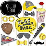 Grand Slam - Fastpitch Softball - Birthday Party or Baby Shower Photo Booth Props Kit - 20 Count