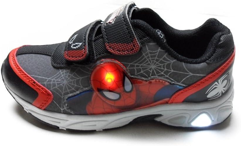 SPIDERMAN SPI3812 scarpe sportive bambino con LUCI a STRAPPO