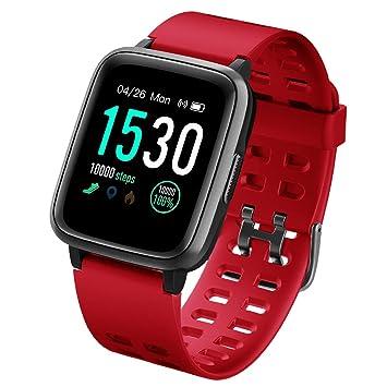 LATEC Pulsera Actividad Reloj Inteligente Impermeable IP68 Smartwatch Pantalla Táctil Completa con Pulsómetro Cronómetro Pulsera Deporte para Hombres ...