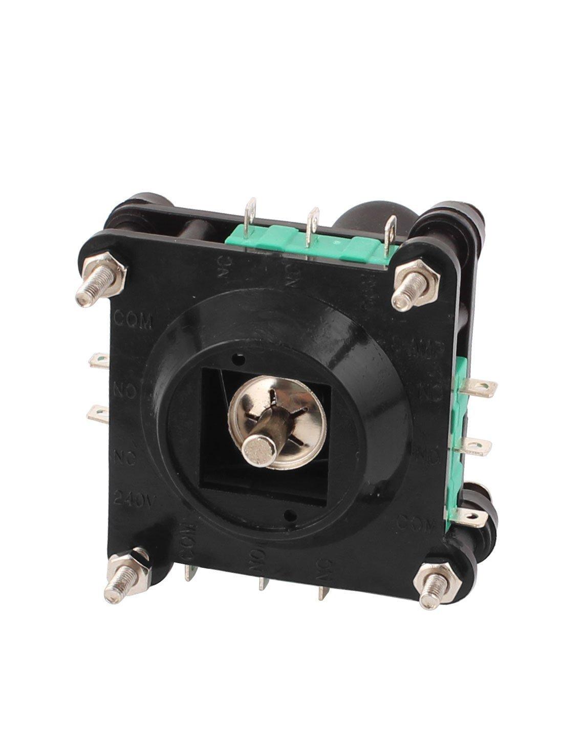 DealMux AC 240V 5Amp 4NO 4NC Momentary 2,5 mm Gewinde Joystick-Schalter