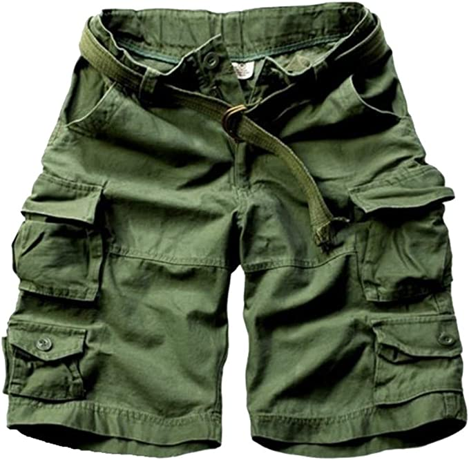 MODOQO Relaxed Fit Big /& Tall Lightweight Casual Outdoor Twill Cargo Shorts for Men