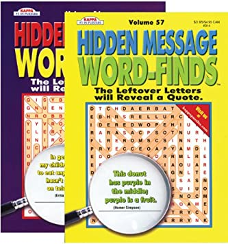 Hidden Message Word Finds Book [48 Pieces] *** Product