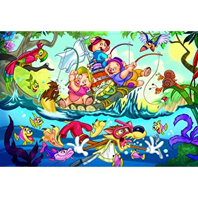 EuroGraphics 35-Piece Classicic Fairy Tales The Three Little Pigs Puzzle: Toys & Games